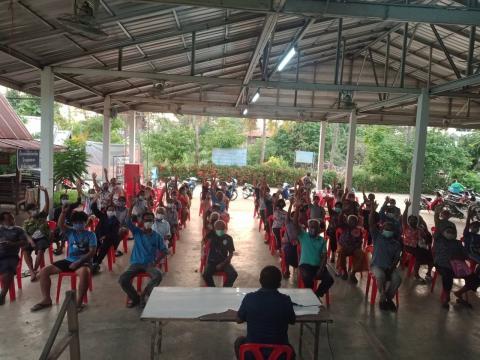 องค์การบริหารส่วนตำบลนางรอง โดยสำนักปลัด ลงพื้นที่รับฟังความคิดเห็นจากประชาชนในการจัดทำแผนชุมชน ประจำปี 2564